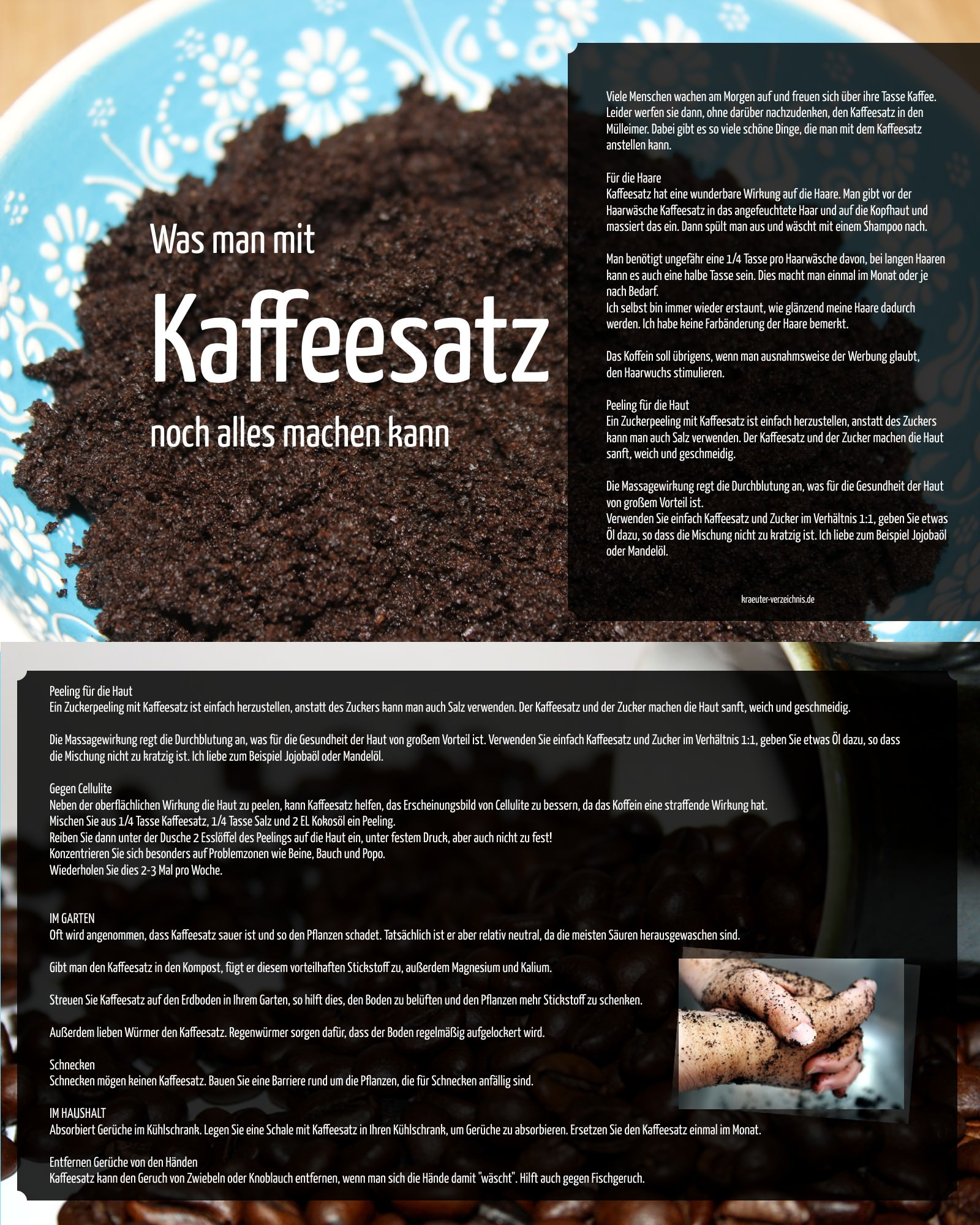 einige dinge sie mit kaffeesatz machen kà nnen